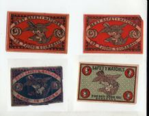 VERY OLD match box labels CHINA or JAPAN patriotic   Birds  #319